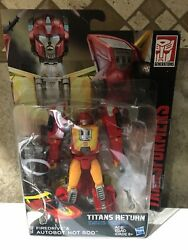 Transformers Generations Deluxe Titans Return Firedrive & Hot Rod Figure Autobot $20.00