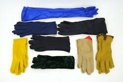 Assorted Lot of 8 Pair of Women#x27;s Gloves Multiple Colors Short amp; Long Styles $55.00
