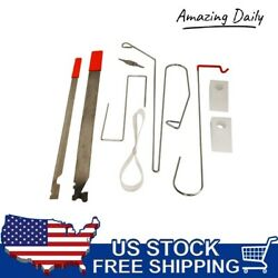 9pc Car Door Open Unlock Tool Kit Key Lock Out Emergency Opening Thin Bar Wedges $18.99