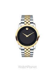 Movado Museum 0606899 Two-Tone Classic Watch With Concave Dot Museum Dial