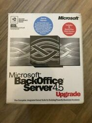 Microsoft BackOffice Server 4.5 Upgrade with 5 CALs Original Retail Box Unopened $29.99