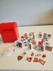 Miniature mailbox w 36 Valentines for 8quot; Betsy McCall LOOK $25.00