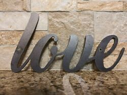 LOVE Metal Wall Art Word Quote Metal Sign Decor Steel rustic home decor new $12.95