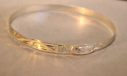Western Hand Engraved Adjustable Silver Hatband 4 Rodeo or Pageant 1 2quot; W $47.00