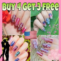Color Nail Polish Strips BUY 4 GET 3 FREE Manicure Nail Stickers US SELLER