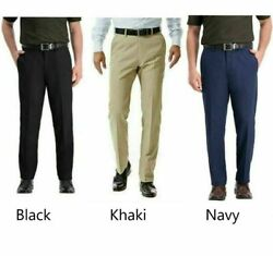 NEW Haggar Mens In Motion Performance Straight Fit Stretch Pants Pick Color Size $19.99