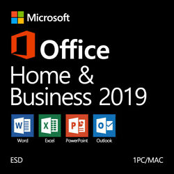 Microsoft Office Home and Business 2019 Windows 10 PCMac ✅Authorized Reseller $64.99