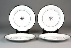 4 TARGET SILVER NOEL Dinner Plates 10.75 ARCTIC SOLSTICE Retired Quick Ship $44.99