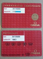 OMEGA 2 Warranty Card original Vintage Parts EUR 109.00
