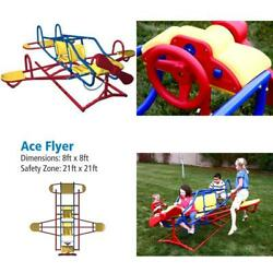 Teeter Totter For Kids Airplane Ace Flyer Seesaw Playground Toys Backyard Gym