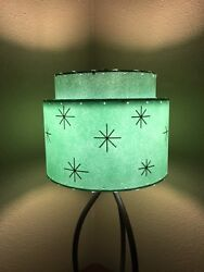 Mid Century Vintage Style 2 Tier Fiberglass Lamp Shade Modern Atomic Retro A SF $65.00