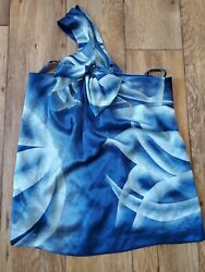 Beautiful Blue BCBG max Azria silk top size S one shoulder