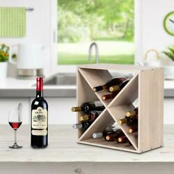 Wine Rack Storage Organizer 24 Bottle Compact Cube Natural Home Decor Furniture $25.99