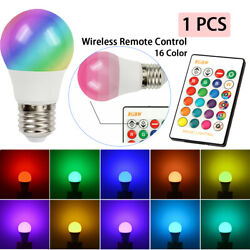 16 Color Changing Magic Light E27 RGB LED Lamp Bulb with Wireless Remote Control $5.95