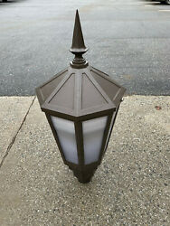 Set of 23 OUTDOOR LAMP POST TOPS Commercial Street Lights Hadco New London V8915