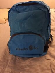 BLUE Foldable Travel Backpack Durable Lightweight Packable Sturdy Tote 4oz REI $9.99