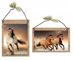 Wild Horse Pictures Western Animals Rustic Wall Hangings Home Decor Plaques $10.99