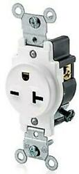 NEW Leviton Commercial Grade Single Receptacle Outlet 5821 W 20A 250V White