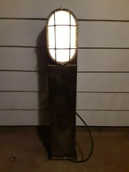 VINTAGE LIGHTOLIER OUTDOOR COMMERCIAL PARKING ENTRY STAND UP LIGHT INDUSTRIAL