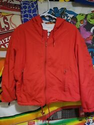 L L Bean Small Jacket Hooded Beach Towel Lined Red $30.00