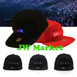 USA Animated LED Message Sign Hiphop Cap Men Adjustable Snapback Baseball Hat $17.69