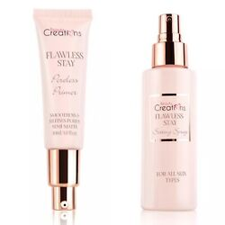 2 PCS BEAUTY CREATIONS Flawless Stay PORELESS PRIMER 1 OZ + SETTING SPRAY 4 OZ $18.00