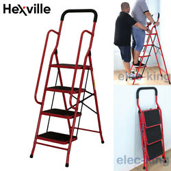 Protable 2 3 4 Steps Ladder Folding Non Slip Safety Heavy Duty Industrial Home $39.00