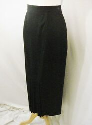 Black Skirt Chic Sophisticated CONDOR Pleated Maxi Pencil Skirt Long SM $25.00