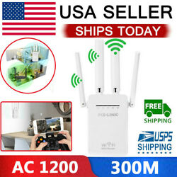 AC1200 WiFi Repeater Wireless 300M Extender Router Dual Booster Band Gigabit 5G $22.39