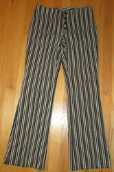 Levi#x27;s FOR GALS Striped Button Front STA PREST Pants Slacks Nice $65.00