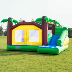 Jungle Jumper House Bounce Castle Kids Bouncing Playground Inflatable Slide Jump