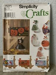 FF UNCUT Simplicity Pattern #7521 Lawn Geese Holiday Outfits amp; Mailbox Covers $19.99