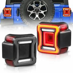 Smoked LED Taillights Sequential Turn Signal For 18-20 Jeep Wrangler Rear Lamp $678.99