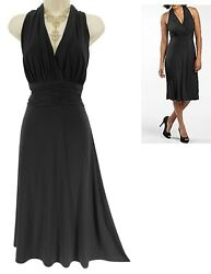 16 XL 1X SEXY Womens RUCHED BLACK MARILYN DRESS Cocktail Evening Party Plus Size $49.99