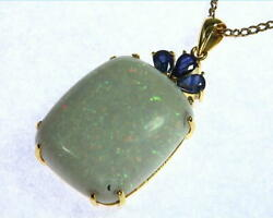 Opal Australian set in 14 kt Yellow Gold Designer Pendent NFG902