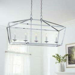 Home Decorators Collection Weyburn 5-Light Chrome Caged Island Chandelier $209.95