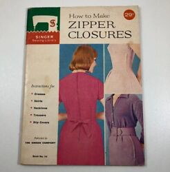 1960 Singer Sewing Library Book 106 How Make Zipper Closures vintage booklet $13.00