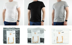 Calvin Klein T Shirt Mens 3 Pack Crew Neck Classic Fit Undershirt