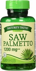 Nature#x27;s Truth Saw Palmetto 1200 mg Capsules 120 Count $14.85