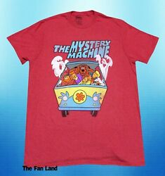 New Scooby Doo Mystery Wagon Mens Heather Red Vintage Throwback T Shirt $19.95