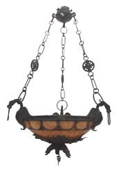 Chandelier Antique Solid Brass Gothic dragons pendant light $750.00