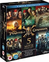 Pirates of the Caribbean Complete Collection Blu ray $49.00