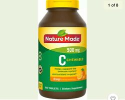 Nature Made Vitamin C 500mg Chewable Tablet Immune Support 150 Tablets Exp 11 21 $19.99