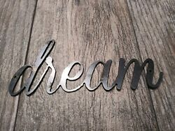 DREAM Metal Wall Art Word Quote Metal Sign Decor Steel rustic home decor NEW $12.95