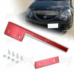 Universal Magenta Red Front Bumper License Plate Mount Bracket Relocate Hold Bar