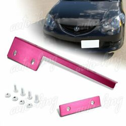 For Lexus Mitsubishi Pink Aluminum Front License Plate Mount Relocate Bracket