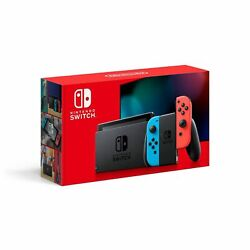 BRAND NEW Nintendo Switch Console with Neon Red Neon Blue Joy Cons SHIPS TODAY $399.97