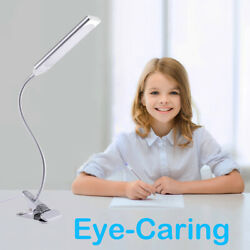 Dimmable LED Desk Light Flexible USB 48 LED Clip On Desk Table Adjustable Lamp $15.00
