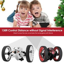 RC Bounce Car Jumping Toy Remote Control Spin Rotate LED LIGHT 2.4GHz Racing#CB AU $49.95