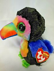 NEW TY BEANIE BOOS quot;BEAKS THE TOUCANquot; 6quot; SOFT CUTE amp; CUDDLY FOR LITTLE HANDS $5.99